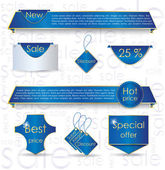 Blue web design banner sale for website — Stock Vector
