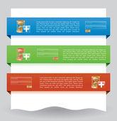 Login website banner — Stock Vector