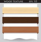 Wood textured website banner — Stock Vector