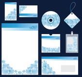синий пузырь канцтовары для компании векторном формате — Cтоковый вектор