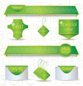Green web design banner sale for website — Stock Vector
