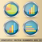 Statistic vector elements — Stock Vector