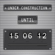 Under construction countdown timer vector format — Stock Vector