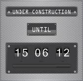 Under construction countdown timer vector format — Stock Vector