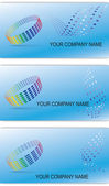 Set of editable business cards — Stock Vector