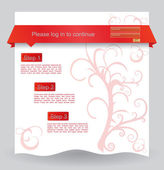 Floral web design template — Stock Vector