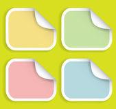 Colored striped stickers — Stock Vector