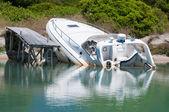 Sinking boat — Stock Photo