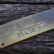 Stock Photo: Sydney Indicator