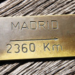 Madrid indicator Route — Stock Photo