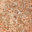 Square clay roof tiles - Stock Photo