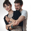 Young couple in loving embrace — Stock Photo
