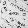 Stock Photo: Answers concept