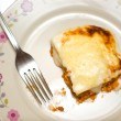 Stock Photo: Homemade lasagne on plate