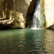 Waterfall in mountain oasis Chebika at border of Sahara, Tunisia — Stock Photo #10819506
