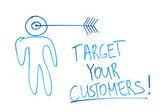 Indirizzare i vostri clienti — Foto Stock
