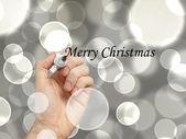 Veselé Vánoce ruka — Stock fotografie