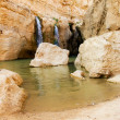 Waterfall in mountain oasis Chebika at border of Sahara, Tunisia — Stock Photo #10820707