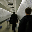 London tube tunnel with — Stock Photo
