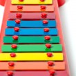 Xylophone metallophone for kids selective focus - Stock Photo