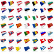 Flags of europe — 图库照片