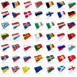Flags of europe — Stock fotografie