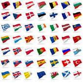 Flags of europe — Stock Photo