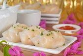 Steamed Vegetable Dumpling — Stock Photo