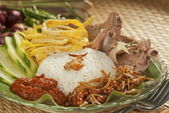 Nasi lemak with Boiled Ribs — Stock Photo