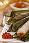 Lemper - Grilled Savory Rice Rolls — Stock Photo