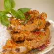 Panaeng Pork Rib Curry — Stock Photo