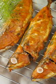 Baked Indian Mackerels with Spicy Coconut Sauce — Stock Photo