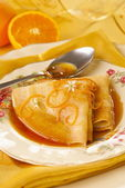 Crepes Suzette — Stock Photo