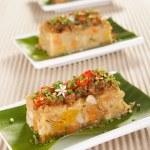 Savory Yam and Sweet Potato Cake — Stock Photo #11642310