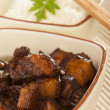 Royalty-Free Stock Photo: Braised Pork Belly in Dark Soy Sauce