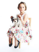 Girl and her best friend — Stock Photo