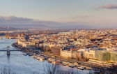 Budapest view from Gellert hill, Hungary — Stock Photo