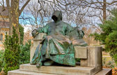Statue of Anonymous, Vajdahunyad Castle, Budapest, Hungary — Stock Photo