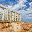 Poseidon temple, Sounio, Greece — Stock Photo