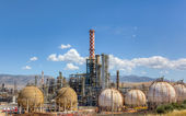 Oil refinery daylight view — Stock Photo