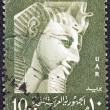Stock Photo: EGYPT - CIRC1958: stamp printed in Egypt shows Pharaoh Ramses II, circ1958.