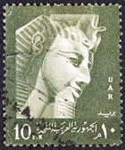 EGYPT - CIRCA 1958: A stamp printed in Egypt shows Pharaoh Ramses II, circa 1958. — Stockfoto