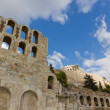 Stock Photo: Odeon of Herodes Atticus and Acropolis, Athens, Greece