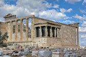 Erechtheum temple, Acropolis, Athens, Greece — Stock Photo