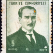 TURKEY - CIRCA 1968: A stamp printed in Turkey shows a portrait of Kemal Ataturk, circa 1968. — Stock Photo #11037164