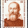 HUNGARY - CIRCA 1964: A stamp printed in Hungary shows a portrait of Galileo, issued for the 400th anniversary of his birth, circa 1964. - Stock Photo