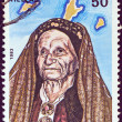 GREECE - CIRCA 1983: A stamp printed in Greece from the &amp;quot;Personalities&amp;quot; issue shows Despina Achladiotou, &amp;quot;The Lady of Ro island&amp;quot;, circa 1983. - Stock Photo