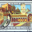 """ITALY - CIRCA 1978: A stamp printed in Italy from the """"Tourist Publicity (5th series)"""" issue shows Udine, circa 1978. — Stock Photo"""