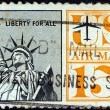 Stock Photo: US- CIRC1961: stamp printed in USshows Statue of Liberty, circ1961.