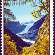 NEW ZEALAND - CIRCA 1967: A stamp printed in New Zealand shows Fox Glacier, Westland National Park, circa 1967. — Stock Photo #11146285
